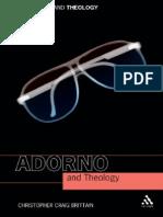 [Christopher Craig Brittain] Adorno and Theology