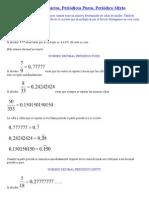 Números Decimales Exáctos