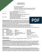 2014 dance and academic resume