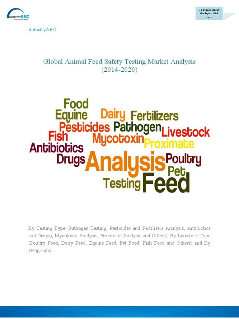 Global Animal Feed Safety Testing Market Brochure Animal Feed