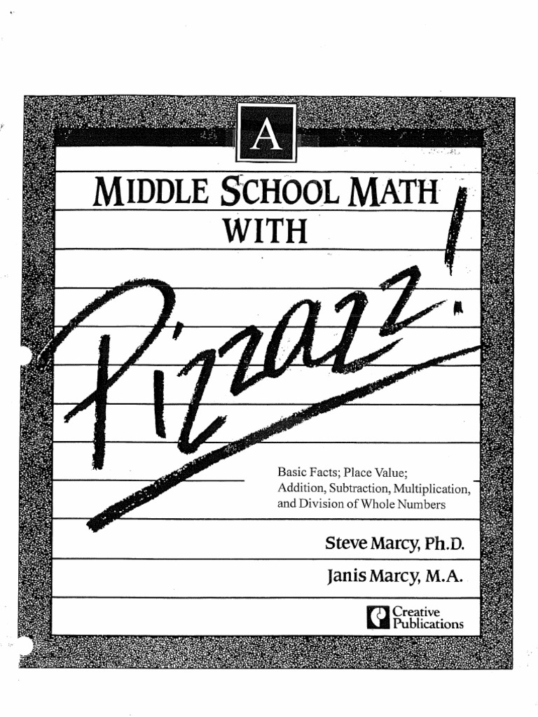 Worksheets Pizzazz Math Worksheets middle school math with pizzazz book a 1540928720v1