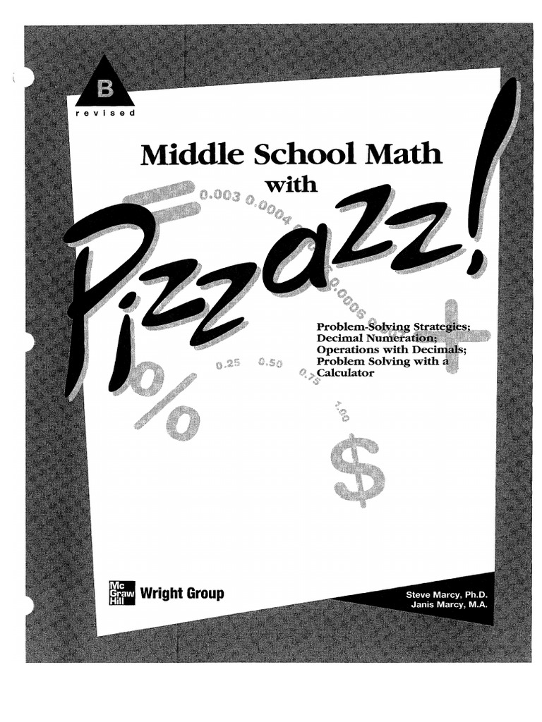 Middle School Math With Pizzazz Book b | Calculator | Multiplication