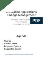 ECS Change Management 091001