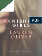 Vanishing Girls by Lauren Oliver (extract)