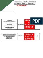 Calendario Inscripciones Febrero 2015