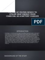 Using Peltier Device to Utilize Heat Energy From [Autosaved]