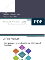 Product and Services Guidelines