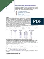 Cálculo de Indicadores VAN y TIR Para Valoración de Una Inversión