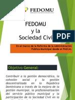 FEDOMU y La Articulción de La Participación Sociedad Civil