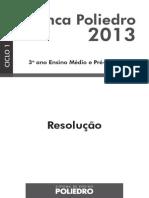 Simulado poliedro ciclo 1 2013