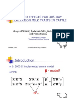 Fixed effects for 305-day lactation milk traits in cattle - talk
