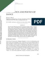 THE POLITICS AND POETICS OF DANCE