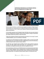 06-02-15 Irreversible compromiso presidencial de otorgar certeza jurídica a la tenencia de la tierra