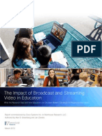 The Impact of Broadcast and Streaming Video in Education