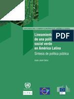 Lineamientos de una política social verde en América Latina Síntesis de política pública