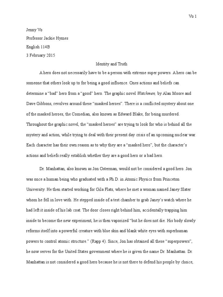 Thesis Statement In Essay  Universal Health Care Essay also Classification Essay Thesis Statement Watchmen Essay  Leisure Apa Format Sample Paper Essay
