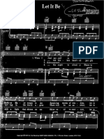 The Beatles - Let It Be (Piano) (Partitura - Sheet Music - Noten - Partition - Spartiti)