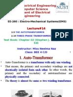 EE-260 Lecture 14 AutoTransformer