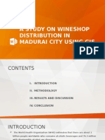 A Study on Wineshop Distribution in Madurai City