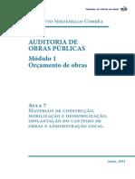 Auditoria de Obras Publicas Modulo 1 Aula 7