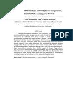 Uji Larvasida ekstrak kulit manggis terhadap larva Aedes aegypti Instar III