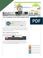 Crea Tu Androide_ Cómo Añadir Widgets UCCW - El Androide Libre