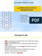 Defects VIII - Dislocation Motion and Generation