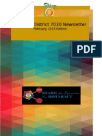 District Newsletter February 2015 (English)
