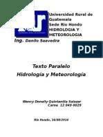 HIDROLOGIA Y METEOROLOGÍA