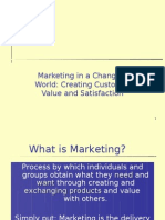 Marketing Concepts and Customer Value