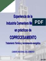 coprocesamiento de los residuos de cemento
