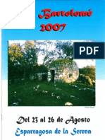 Programa Fiestas San Bartolomé 2007