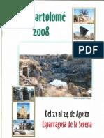 Programa Fiestas San Bartolomé 2008