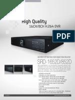 SRD 1652D Specifications