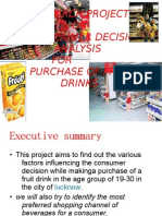 consumer behavior on fruit drinks