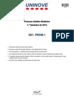 prova medicina uninove 2 semestre 2012