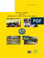 Home Gardens - Key to Improved Nutritional Well-Being; Gardening Guidebook