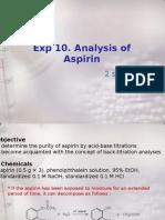 Exp10_Analysis of Aspirin