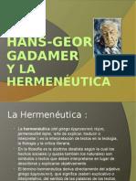 Gadamer y La Hermeneutica