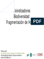 0bioindicadore y Biodiversidad