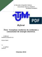 Complexe moderne de evidență a consumului de energie electrică.