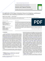 An application of the Impact Evaluation Process for designing a performance measurement and evaluation framework in K-12 environments