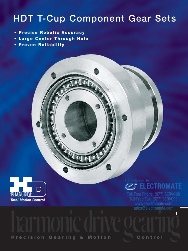 Harmonic Drive Hdt t Cup Specsheet | Gear | Bearing (Mechanical)