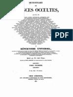 Dictionnaire de sciences occultes 1