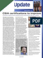 CSIA in NCSG's Sweeping magazine, February 2015
