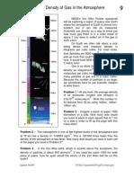 Gas Density in the Atmosphere