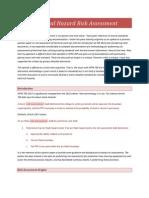 Electrical Hazard Risk Assessment 1-20-15