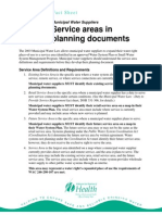 Department Of Health - Service Areas in Planning Documents Fact Sheet
