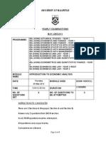 ECON1005Y-1-2013 paper