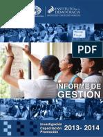 InformeGestion Ins DEMOCRACIA